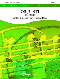 Anton Bruckner: Os Justi: Concert Band: Score & Parts