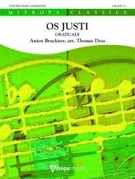 Anton Bruckner: Os Justi: Concert Band: Score
