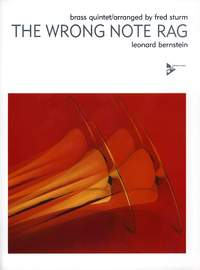 Fred Sturm: The Wrong Note Rag: Brass Ensemble: Score and Parts