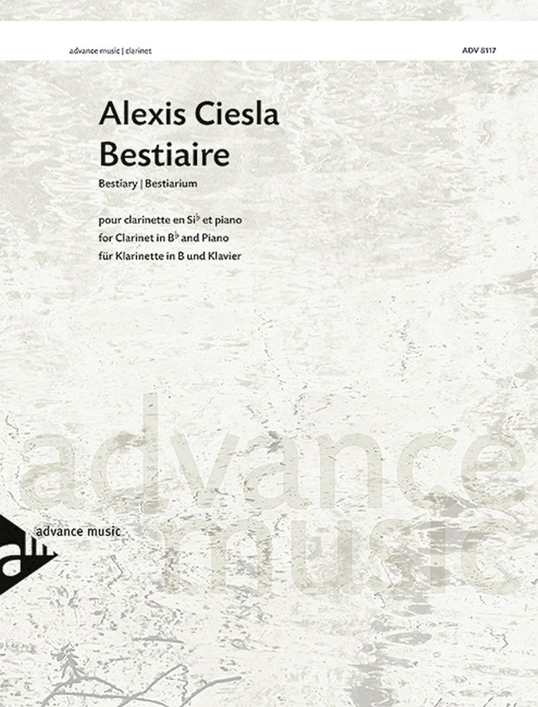 Bestiaire: Clarinet: Score and Parts