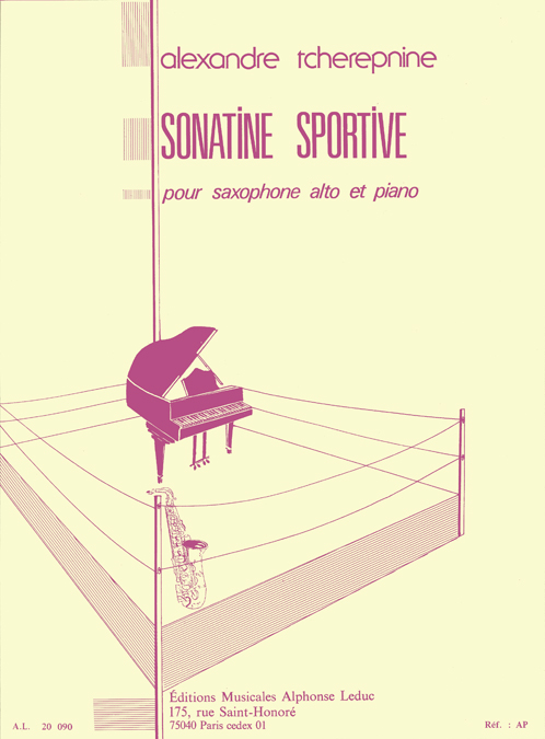 Alexander Tcherepnin: Sonatine Sportive For Alto Saxophone And Piano: Saxophone: