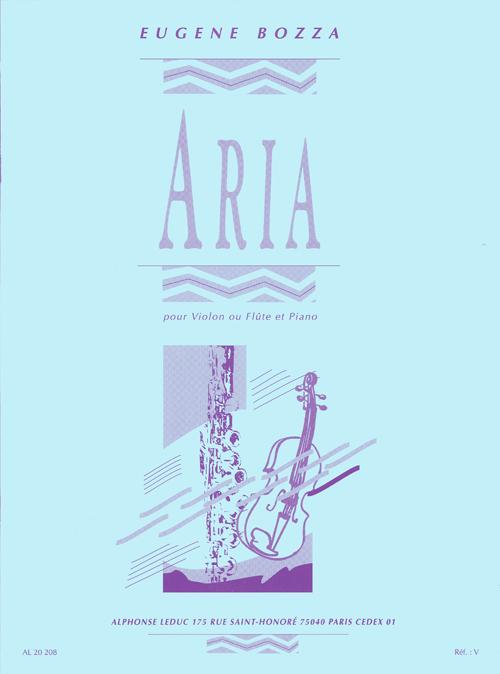 Bozza: Aria: Flute & Violin: Instrumental Work