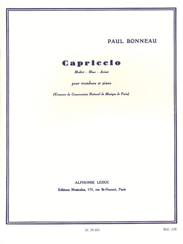 Bonneau: Capriccio: Trombone: Instrumental Work