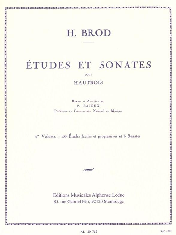 Brod: Etudes et Sonates Vol. 1: Oboe: Instrumental Album