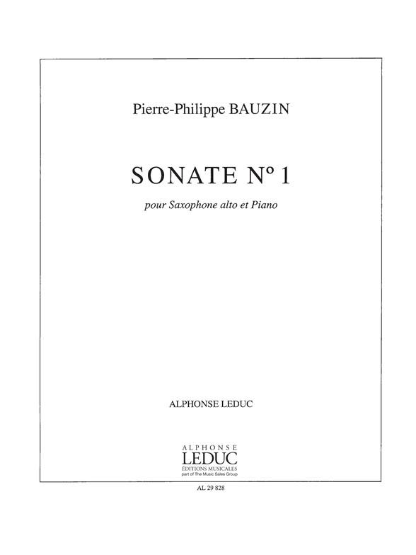 Bauzin: Sonate N01: Saxophone: Instrumental Work
