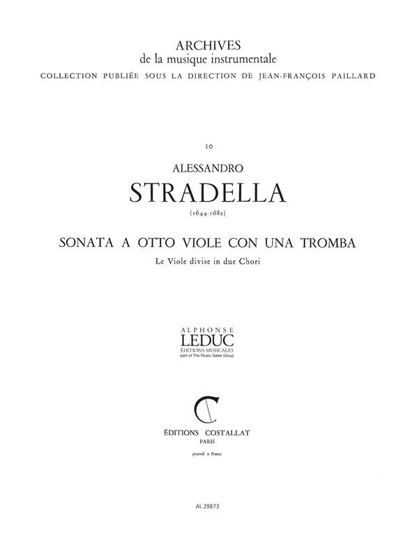Alessandro Stradella: Sonata a 8 Viole e 1 Tromba: Chamber Ensemble: Score