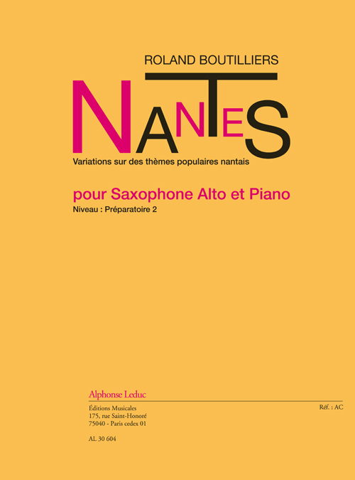Boutilliers: Nantes: Alto Saxophone