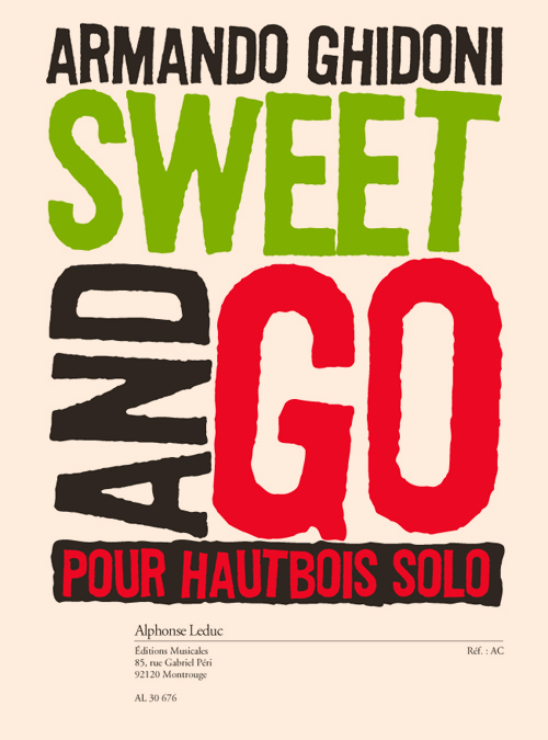 Armando Ghidoni: Sweet & Go - Oboe: Oboe: Instrumental Work