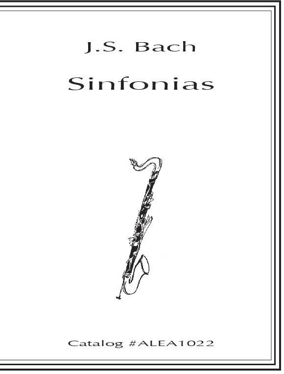 Johann Sebastian Bach: Sinfonias: Woodwind Ensemble: Score
