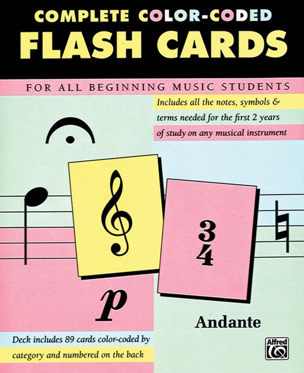 89 Color-Coded Flash Cards: Practice Cards