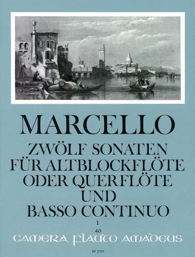 Benedetto Marcello: Sonaten(12) 1 Op.2: Treble Recorder: Score and Parts