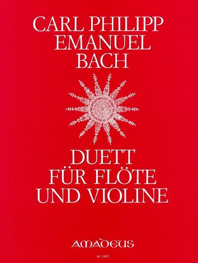 Carl Philipp Emanuel Bach: Duet: Flute & Violin: Instrumental Work