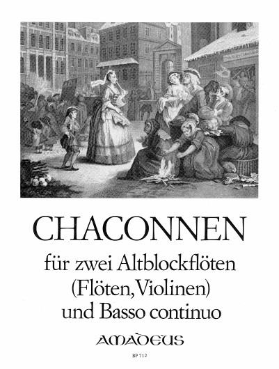 Chaconnen for Two Treble Recorders and Continuo: Recorder Ensemble: Score and