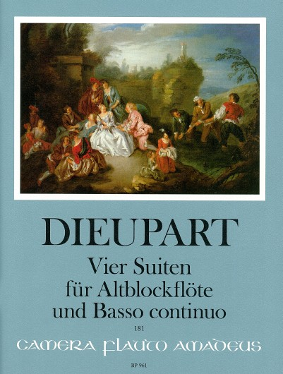 Charles Dieupart: 4 Suites: Treble Recorder: Instrumental Work