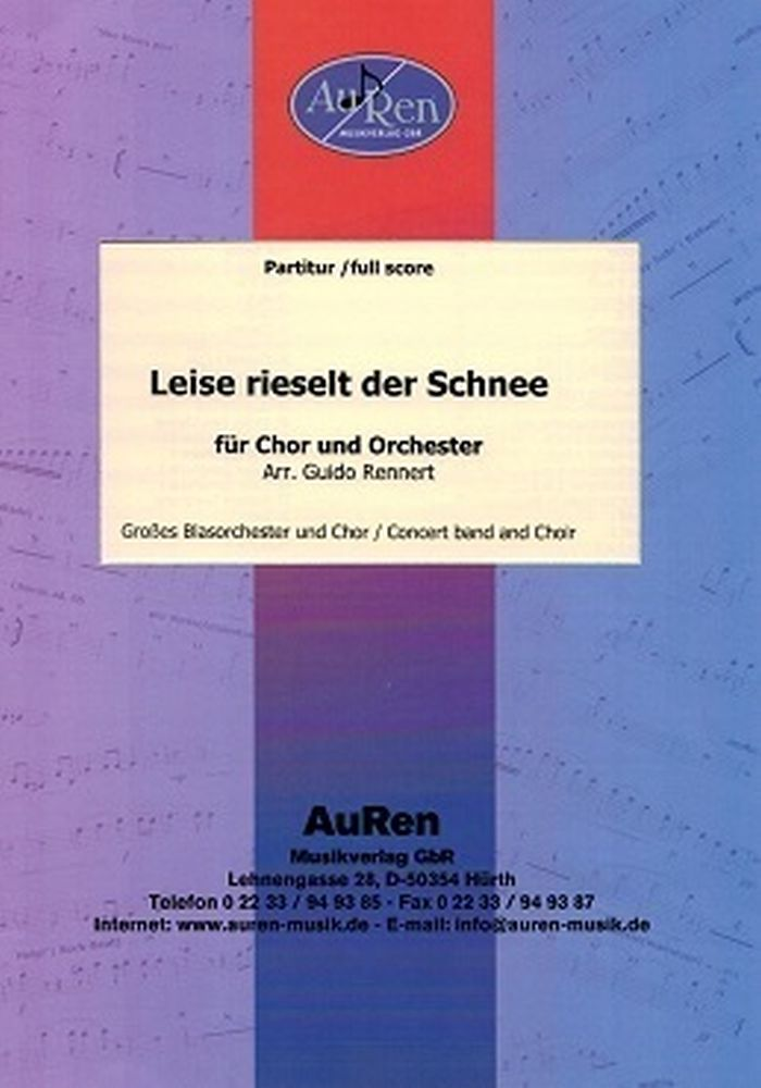 Eduard Ebel: Leise Rieselt Der Schnee: Choir and Orchestra: Score and Parts