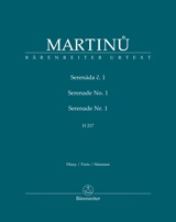 Bohuslav Martinu: Serenade no. 1 H 217: Chamber Ensemble: Parts