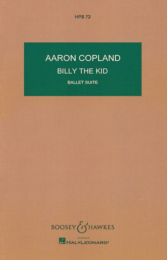 Aaron Copland: Billy The Kid - Ballet Suite: Orchestra: Miniature Score