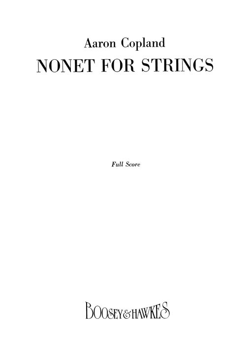 Aaron Copland: Nonet for Strings: String Ensemble