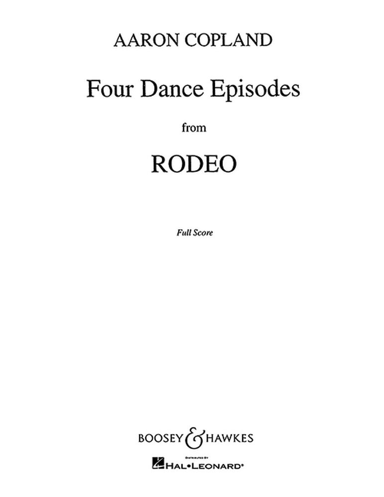 Aaron Copland: 4 Dance Episodes from Rodeo: Orchestra