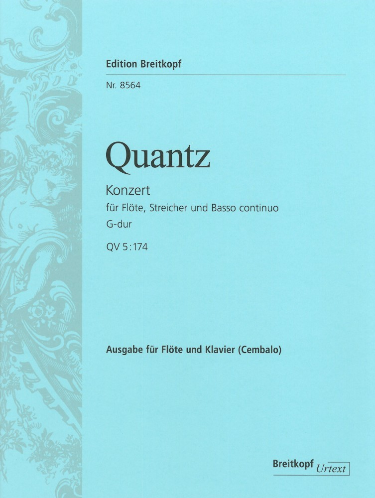 Johann Joachim Quantz: Flötenkonzert G-dur QV 5:174 / Flute Concerto: Flute:
