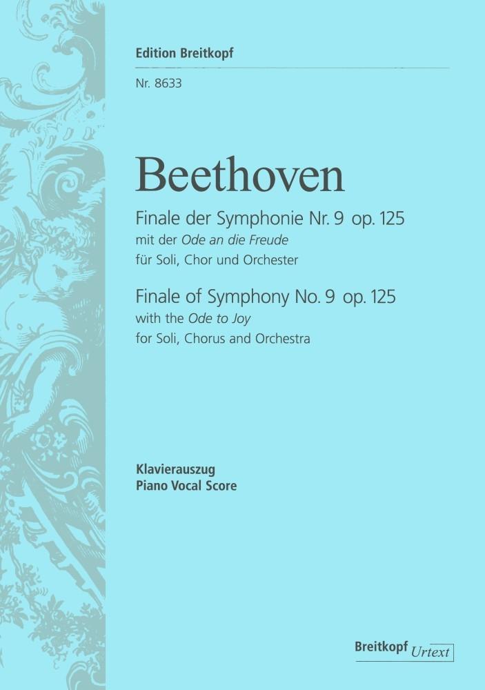 Ludwig van Beethoven: Symphony No 9 D-Moll Op. 125: Mixed Choir: Vocal Score