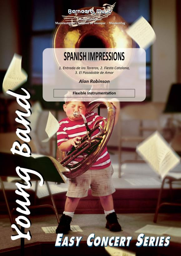 Alan Robinson: Spanish Impressions: Concert Band: Score and Parts