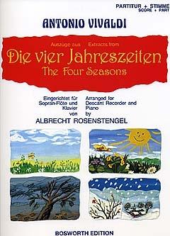 Antonio Vivaldi: Die Vier Jahreszeiten (Auszüge): Descant Recorder: Single Sheet