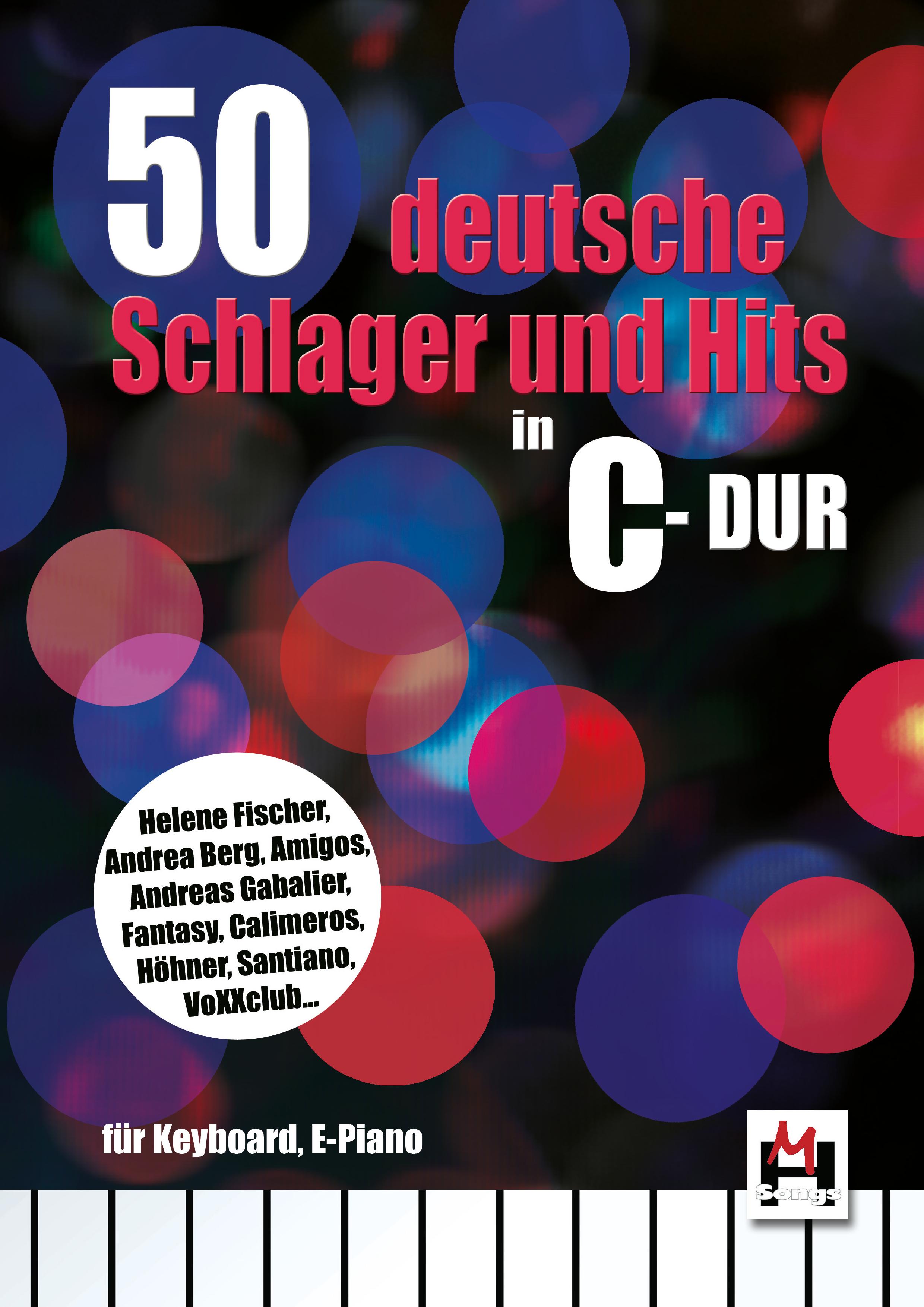 50 Deutsche Schlager in C-Dur: Voice: Mixed Songbook