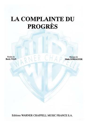 Boris Vian: La Complainte du Progrès: Voice: Single Sheet