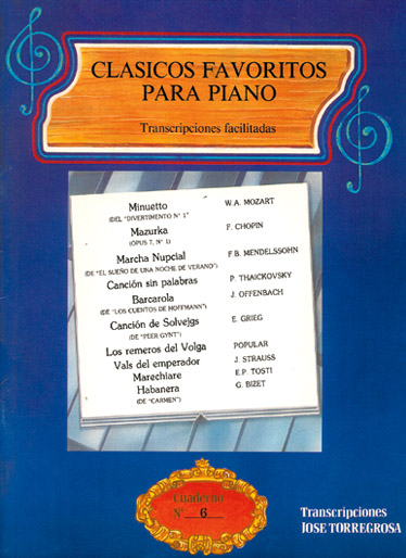 Clásicos Favoritos para Piano No.6: Piano: Instrumental Album
