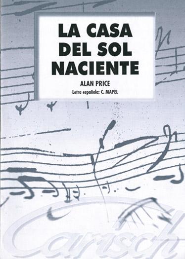 Alan Price: La Casa Del Sol Naciente: Voice: Single Sheet