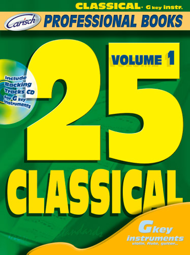 25 Classical Volume I( TC Instr.): C Clef Instrument: Mixed Songbook