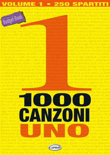 1000 Canzoni Volume 1: Guitar: Mixed Songbook