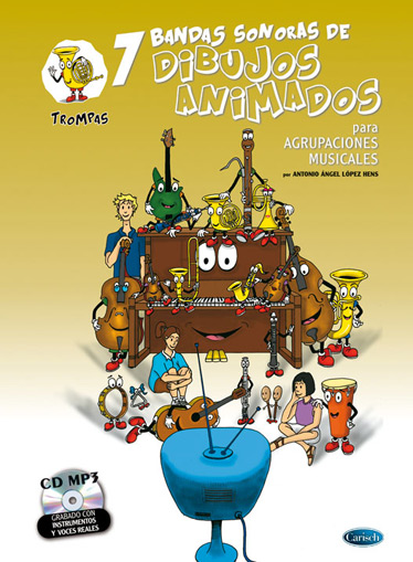 Antonio Angel Lopez Hens: 7 Dibujos Animados - Trompas: Trumpet: Instrumental
