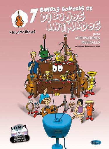 Antonio Angel Lopez Hens: 7 Dibujos Animados - Violonchelos: Cello: Instrumental