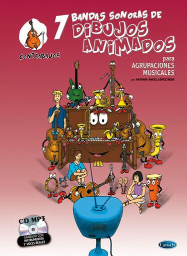 Antonio Angel Lopez Hens: 7 Dibujos Animados - Contrabajos: Double Bass:
