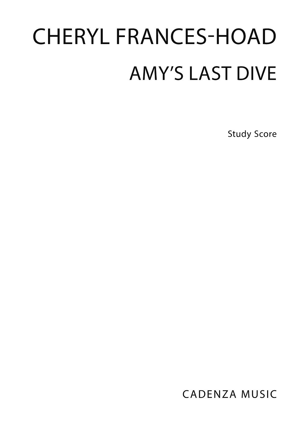 Cheryl Frances-Hoad: Amy