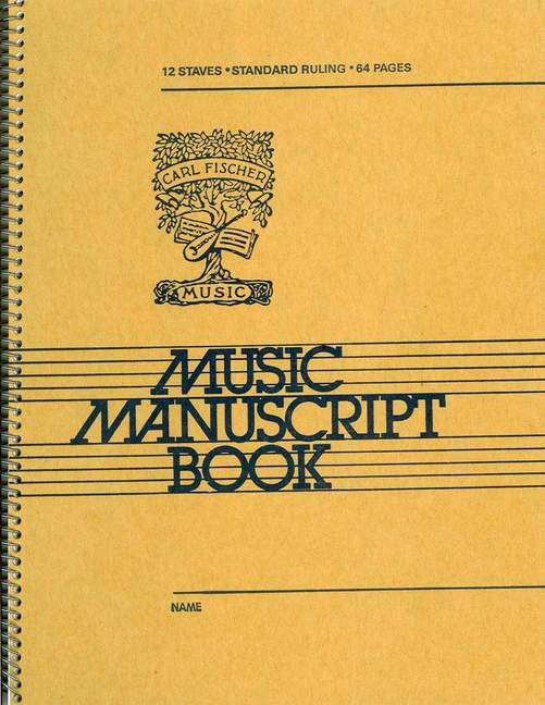 12 Stave Music Manuscript Book: Manuscript