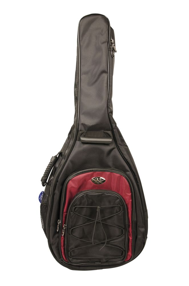 Gig Bag Classical Guitar 3/4 Black & Red: Case