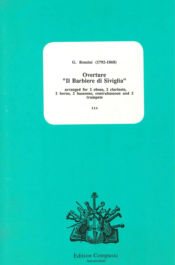 Gioachino Rossini: Overture Il Barbiere Di Siviglia: Wind Ensemble: Score &
