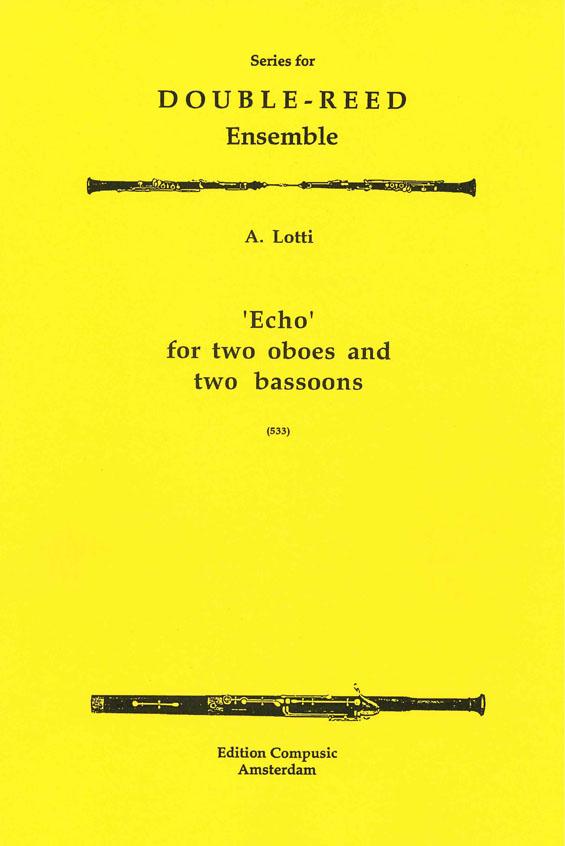 Antonio Lotti: Echo: Oboe & Bassoon: Score & Parts