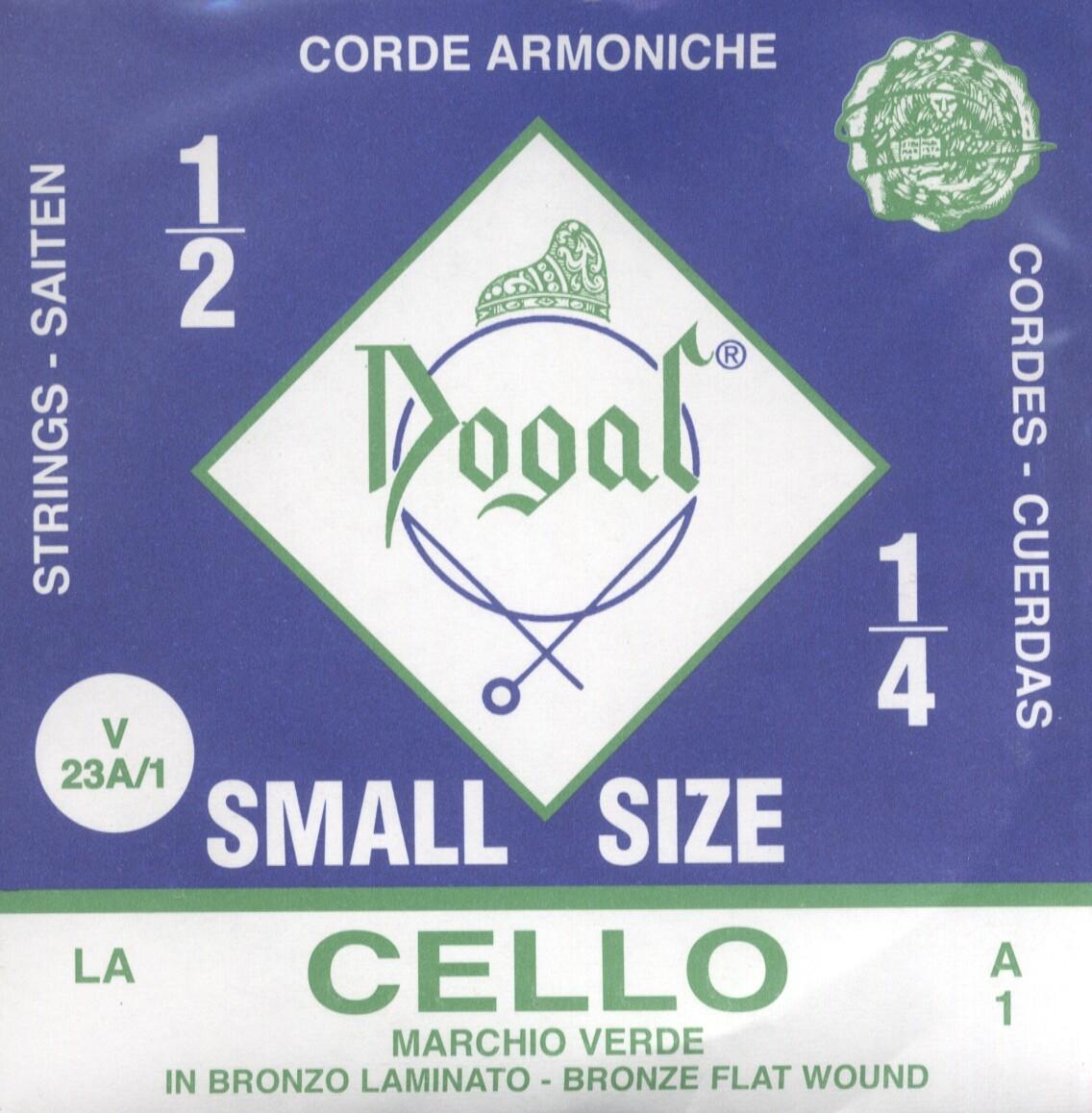 1/2-1/4 Cello A String Green Series: Strings