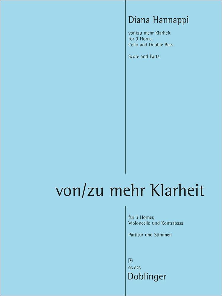 Diana Hannappi: Von/Zu Mehr Klarheit: Chamber Ensemble: Score & Parts