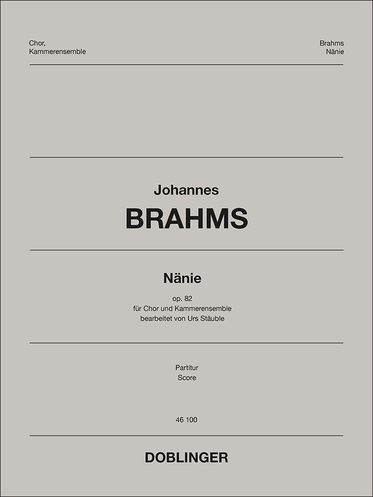 Johannes Brahms: Nanie: Mixed Choir and Accomp.: Score