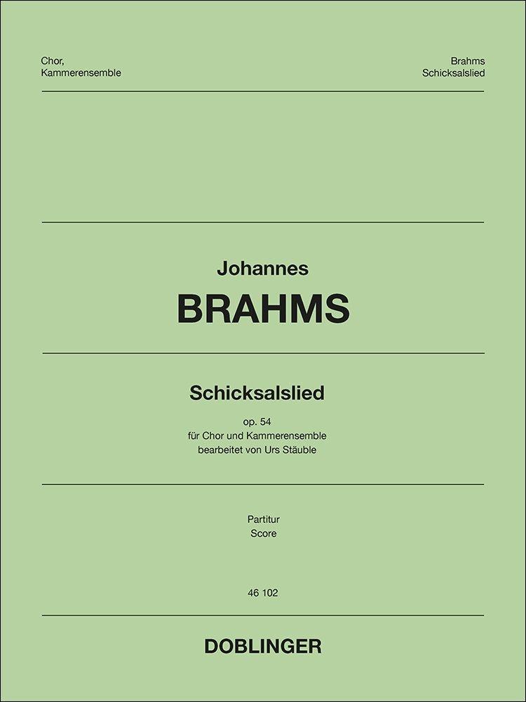 Johannes Brahms: Schicksalslied: Mixed Choir and Accomp.: Score