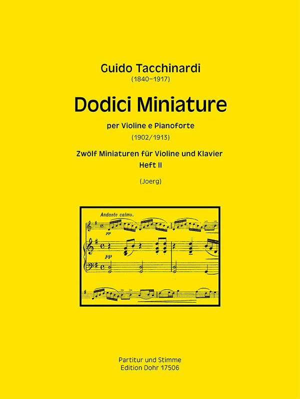 Guido Tacchinardi: Dodici Miniature Heft 2: Violin & Piano: Instrumental Work