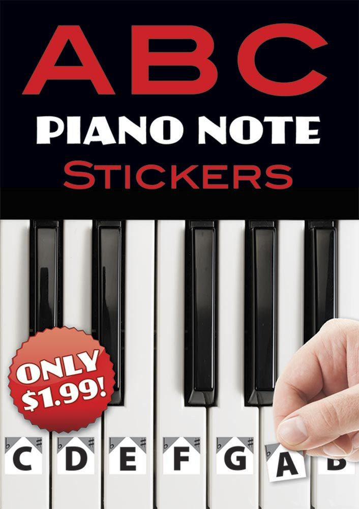 A B C Piano Note Stickers: Stationery