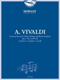 Antonio Vivaldi: Concerto for two Violins Strings and BC: Violin: Instrumental