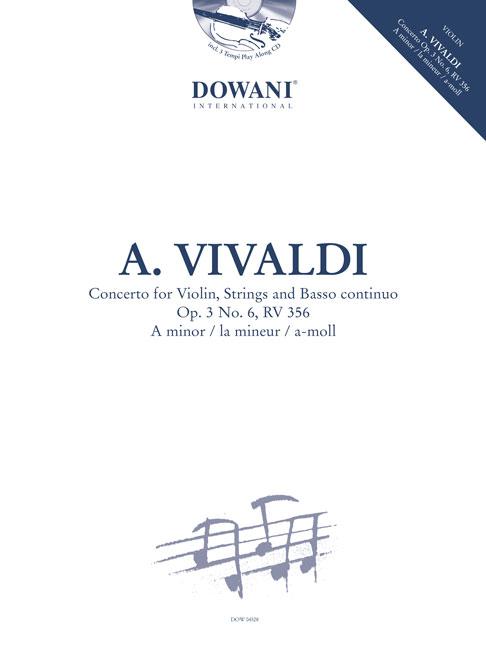 Antonio Vivaldi: Concertino Op. 3 No. 6 RV 356 in A-Minor: Violin