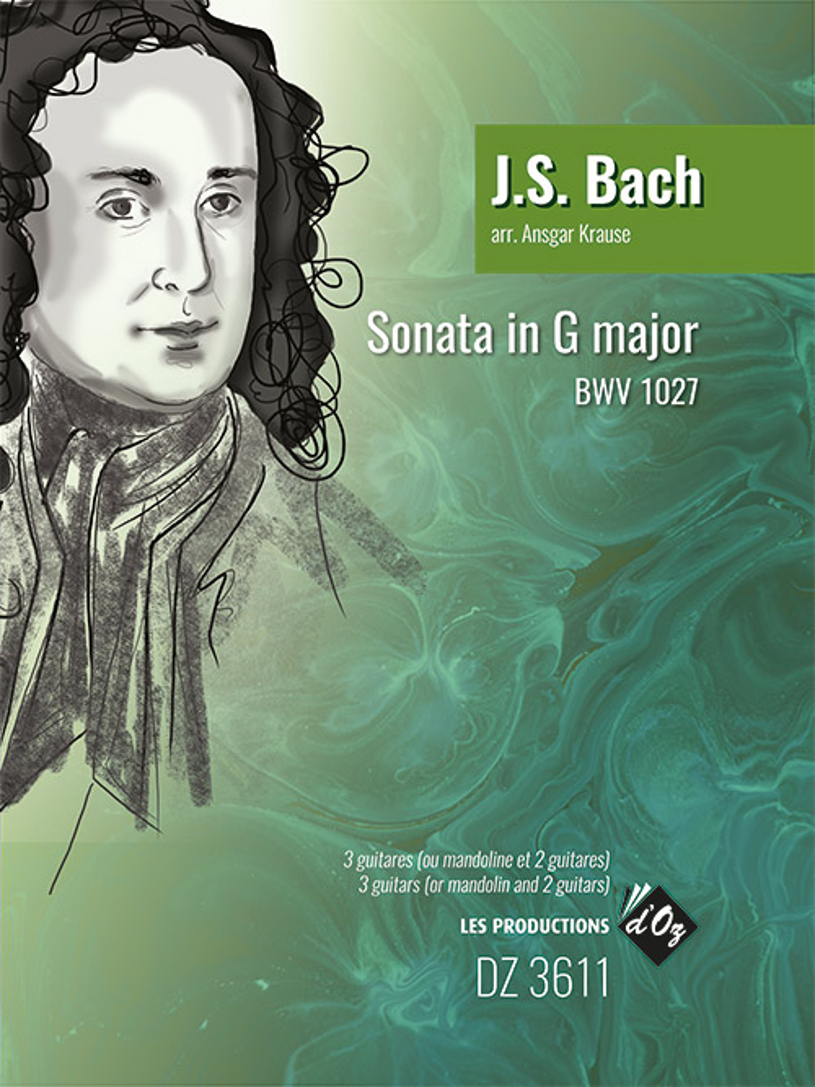 Johann Sebastian Bach: Sonata in G Major BWV 1027: Guitar Ensemble: Score &